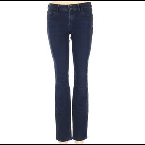 V Elie Tahari Jeans Dark Skinny Mid Rise 4